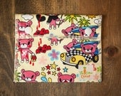 Reusable Small Snack Bag Snap Down - Mr. Bear's Busy Day - Trans Pacific Kawii