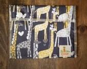 Reusable Small Snack Bag Snap Down - Giraffe Love - Micheal Miller