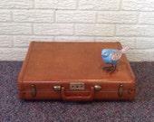 vintage mens briefcase attache case mid century office samsonite