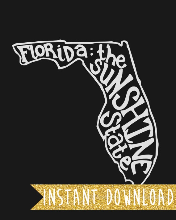 INSTANT DOWNLOAD - Florida: The Sunshine State - 8x10 Illustrated Wall Art by Mandy England
