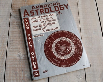 American Astrology Magazine, October 1955 Issue, Libra, Scorpio 60th Birthday, 60 years old