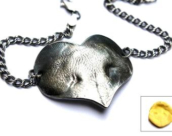 Custom Dog Print Bracelet, Paw Print Heart, Silver Nose Print, Dog Nose Heart, Dog Paw Heart, Custom Dog Print Bracelet, Paw Print Jewelry