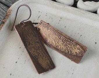 Fairy Wings Earrings - Artisan Etched Copper Earrings, etched earrings, boho earrings, bohemian earrings, festival earrings