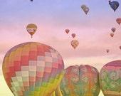 Hot Air Balloons Photography Print 11x14 Fine Art New Mexico Balloon Fiesta Whimsical Sky Landscape Photography Print.