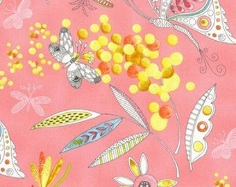 Flight Patterns Mimosa Fabric by Michael Miller
