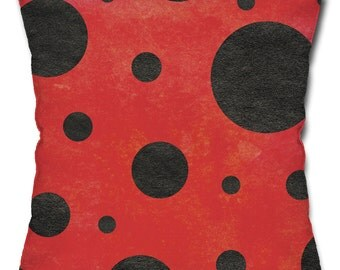 Ladybug Pattern Throw Pillow