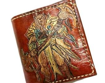 Magic the Gathering Wallet - Ajani Goldmane - MTG Gift - Magic the Gathering Gift - boyfriend gift - anniversary gift. Holds 8 cards,1 slots