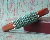 Leather bracelet, brown, licorice leather, magnetic clasp, regaliz, turquoise, silver, leather bangle
