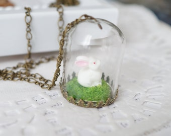 Bunny Terrarium Necklace