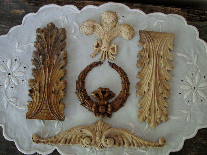 Antique Furniture Appliques Vintage Decorative Moulding