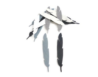 Felt feathers for crafts die cut shapes bird feathers white style 1