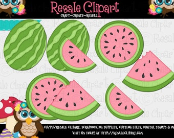 Watermelon Pink 1  Clipart (Digital Zip Download)