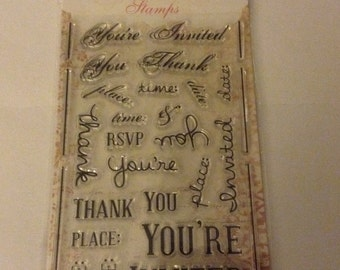 YOU'RE INVITED Clear Stamps by Bo Bunny