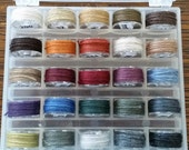 Genziana Wool Thread 25 Color Bobbin Set  #4 for Wool Applique Sue Spargo Colors