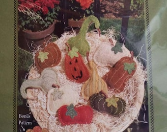KIT: Fall Harvest Pins by Kathy J. Gaul of Meetinghouse Hill Designs