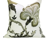 Schumacher Hothouse Flowers pillow cover in Dusk