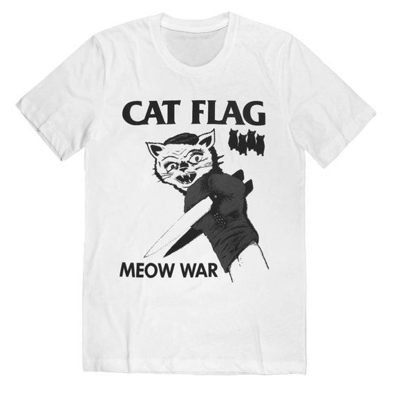 Cat Flag MEOW WAR T-Shirt --- Last One! Free Shipping