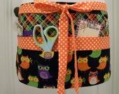 Teacher Crafter Vendor Utility Apron-Masquerading Owls