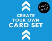 Create Your Own Card Set - Military Greeting Cards, Deployment, Care Package, Stationary