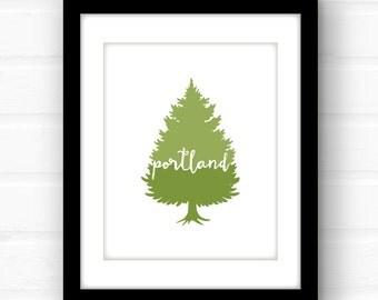 portland oregon // portland maine // portland art // portland print // maine art // oregon art