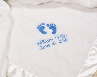 Embroidered Baby Boy Fleece Blanket -gfyE340432