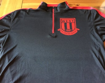 Custom Quarter Zip Pullover with Team Logo and Number