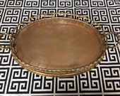 Stunning Hollywood Regency Brass Bamboo Tray. Can be used as a Tray Table. Boho Style. Wedding. Brass Bamboo Kelly Wearstler Style