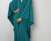 Teal Dress - Teal Kaftan - Kimono Butterfly Dress: Funky Elegant Collection No.1s