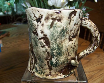 Wood Coffee Mug in Pottery
