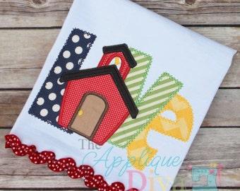 Back to School LOVE School Digital Embroidery Design Machine Applique