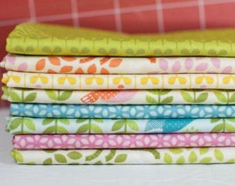 Forest Parade Organic Fabric Bundle - Half Yard Bundle - 8 half yard pieces (B330)