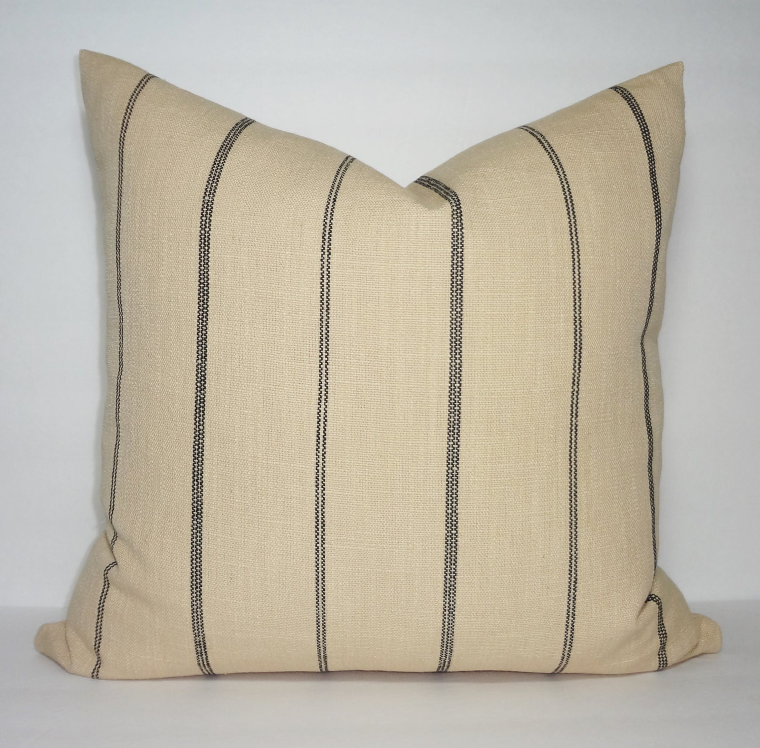 Tan Black Stripe Pillow Cover Decorative Pillow Cover Throw