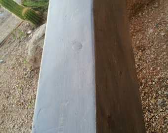 New color. koala stain Rustic Mantel  beam shelf