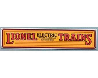 LIONEL ELECTRIC TRAINS Steel Railroad Sign