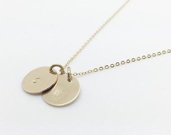Initial pendant necklace - necklaces for women - custom made jewelry - letter charms - heart necklaces - gold circle necklaces