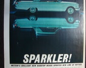 Vintage Magazine Original Promo Ad 1960's Mercury Meteor - Great for Framing