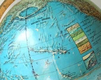 Vintage World Globe, Cram Enviro - Sphere