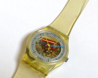 SWATCH watch women's watch Jelly Fish Vintage 1980s Wrist Watch 12mm Small Dialwith original box