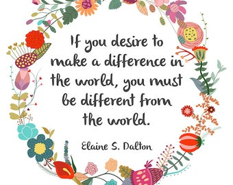 Make a Difference in the World Poster Print