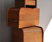 Teak Tambour Recipe File / Photo / Storage Box - Danish Modern - Choice