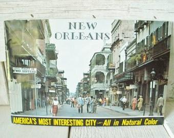 Vintage souvenir book New Orleans Louisiana color photos 1960s