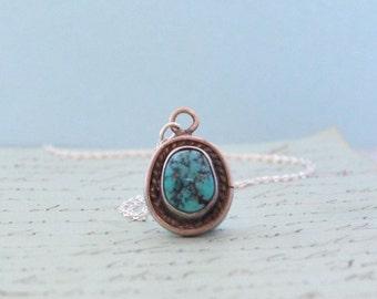 Navajo Turquoise Pendant - Vintage