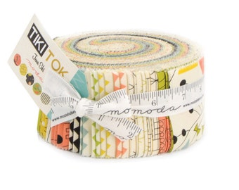 Tiki Tok cotton jelly roll by Jenn Ski for Moda fabric