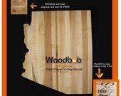 Arizona personalized cutting board cutting boards wood cutting board wooden cutting board cutting board care personalized engraved gifts
