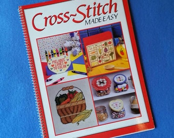 Cross-stitch Made Easy - vintage counted cross stitch pattern chart book