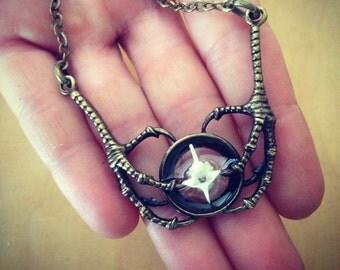 Snake Vertebrae Bone Claw Necklace Pendant