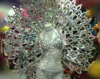 Samba Vegas Showgirl Indian Goddess Halo Angel Round Backpiece