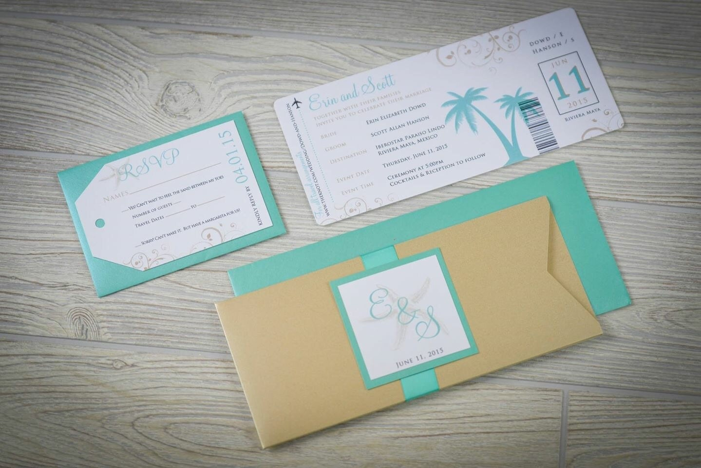 Wedding Invitation Tickets: Destination Wedding Invitations Passport Wedding Invitations