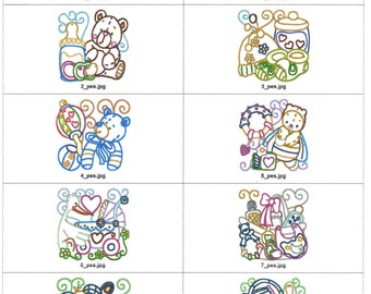 4X4 6X6 Baby blocks machine embroidery designs. Zip file multiformat or cd available