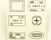 Wooden Rubber Stamp Set - Travel Series - Vol. 1 - 6 Pcs